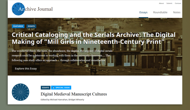 Archives Journal: www.archivejournal.net
